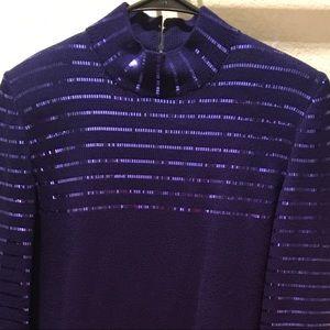 St. John Knit Dress Purple Sequin  sz 4